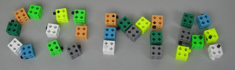 Трехмерные фигуры Сома как идея для детского конструктора