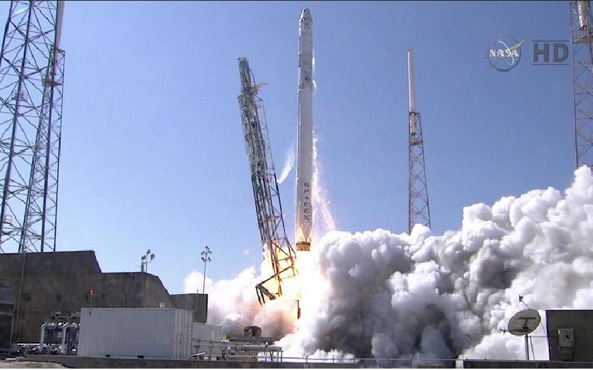 посадка spacex falcon 9 на платформу #6