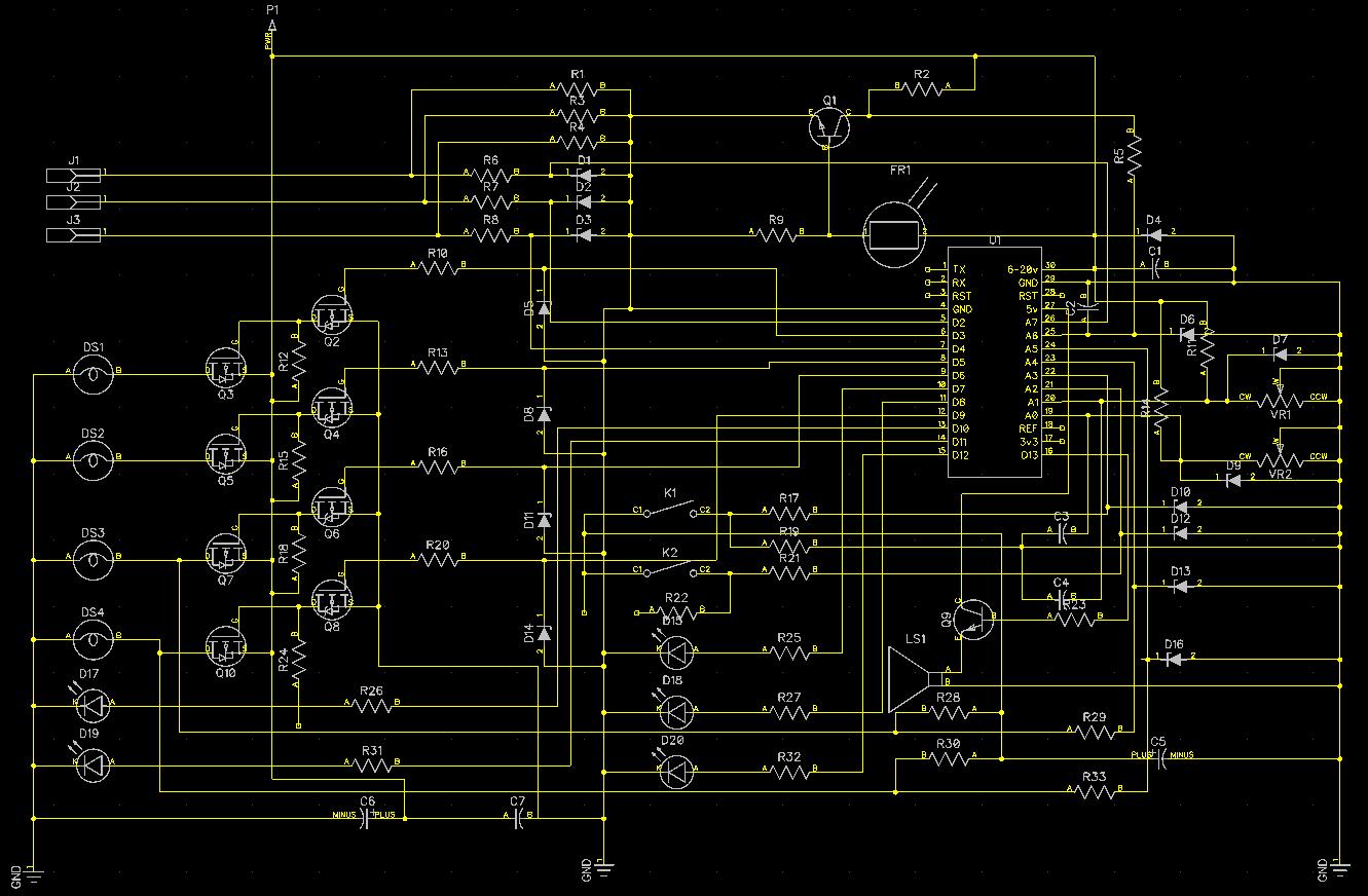 электронная схема плавного включения фар в авто