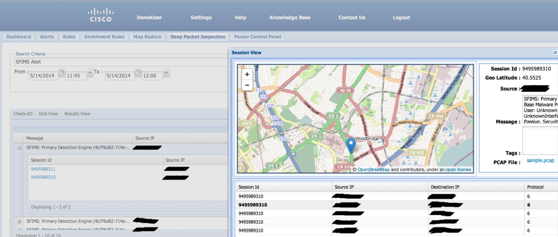 Графический интерфейс на базе OpenSOC