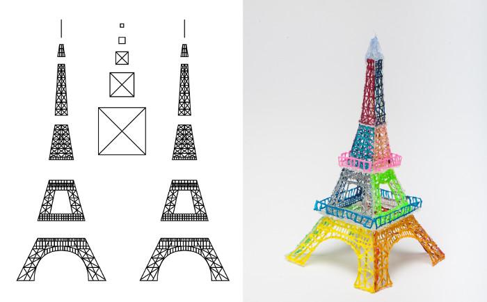 Рисунки эйфелевой башни