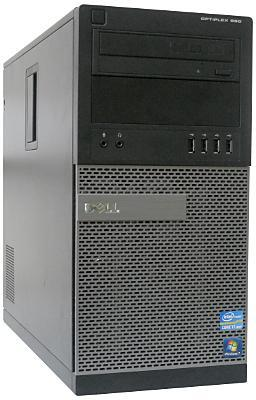 Вид системного блока Dell OptiPlex 990 спереди исбоку