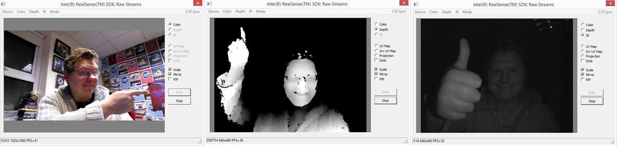 Intel® RealSense™. Работа с потоками необработанных данных