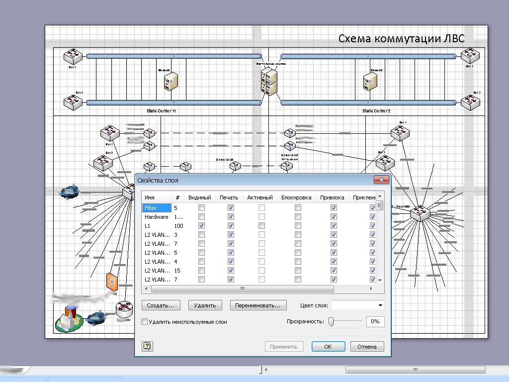 h проект компьютерной сети схема visio