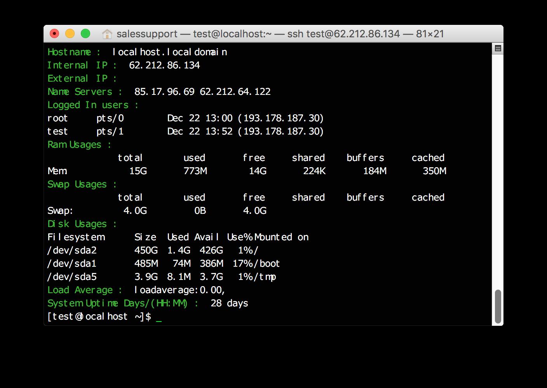 Скрипт для быстрой оценки состояния Linux систем