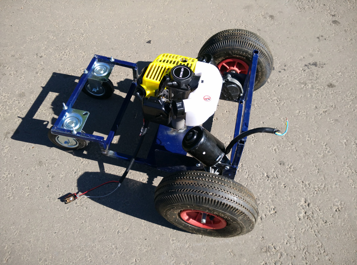 Robot lawn-mower. From ferrous metal to a prototype