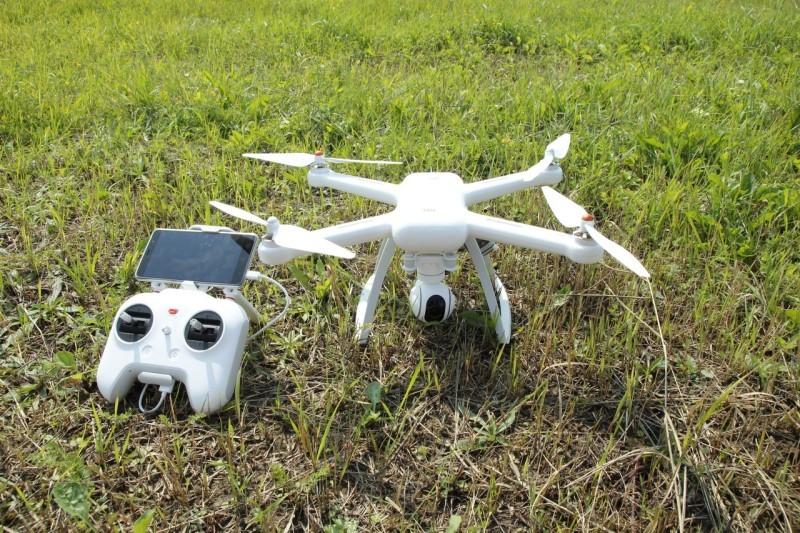 Квадрокоптер xiaomi mi drone 4к защита от падения желтая combo алиэкспресс