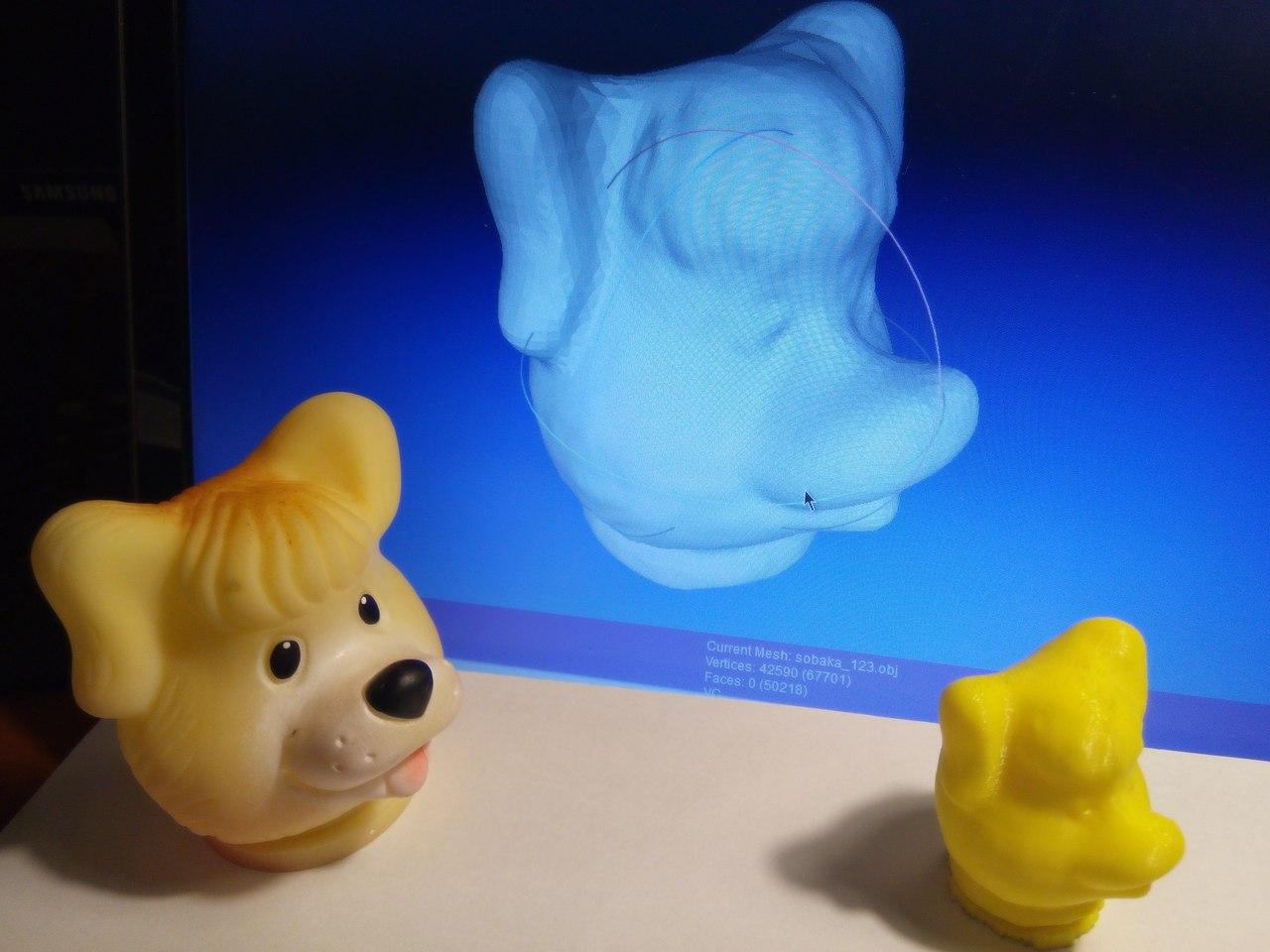 Создание 3D сканера из вебкамеры, лазера, и еще кучки радиодеталей