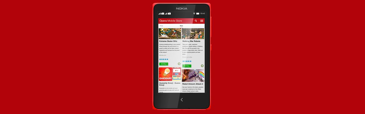 Магазин приложений Opera заменит Nokia Store в смартфонах и телефонах Nokia