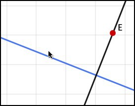 Perpendicular straight line through the free