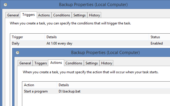 "The plan of service ""for every day"" – Part 3: Automatic creation of backups"