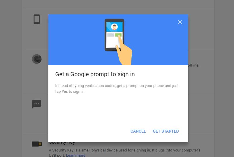 google promt sign