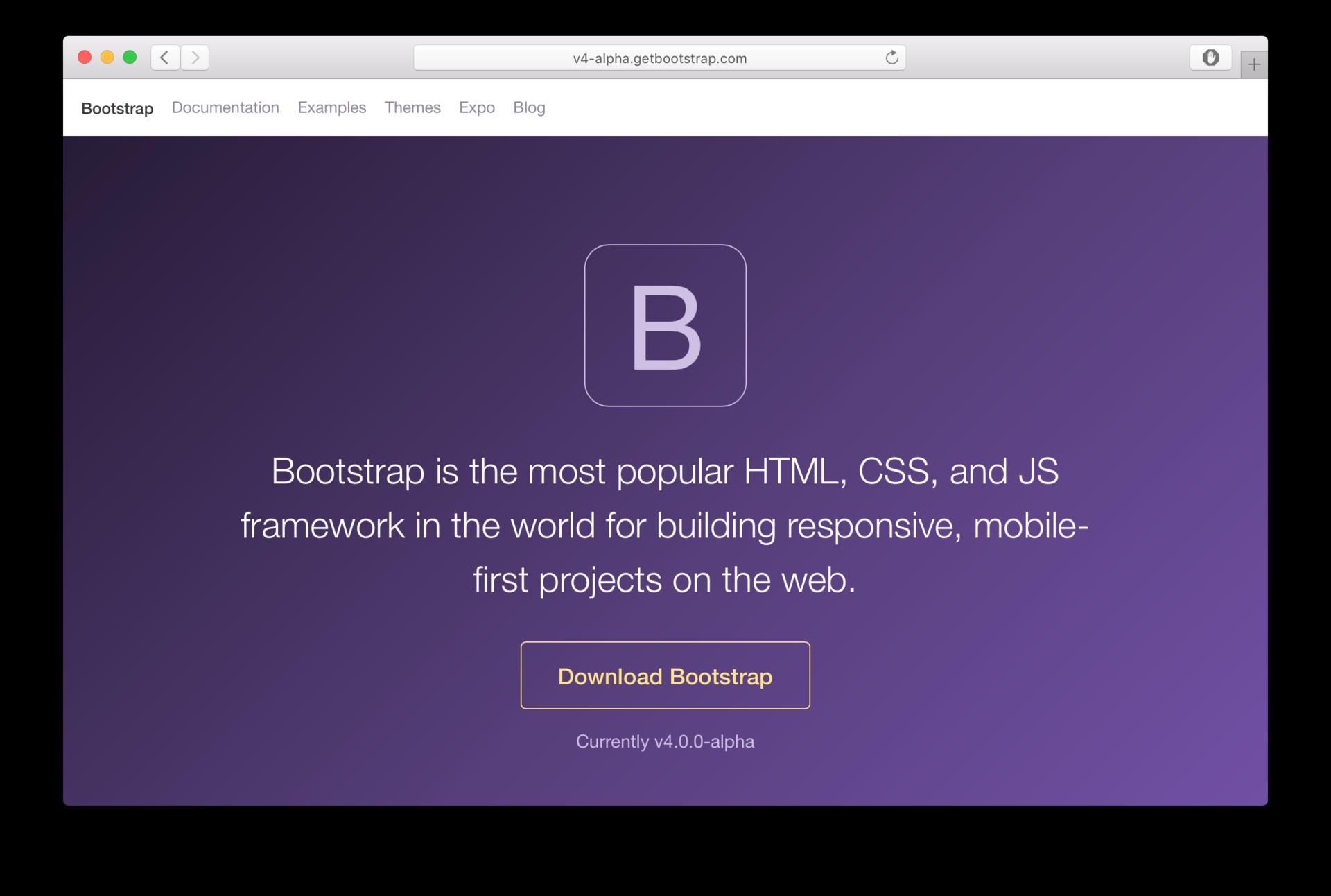 Bootstrap 4 вышел в alpha версии