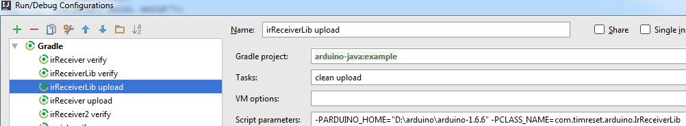 We write on Java to Arduino
