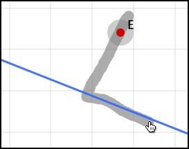 Gesture Perpendicular segment through a free point