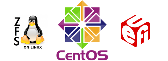 The CentOS installation on ZFS in UEFI