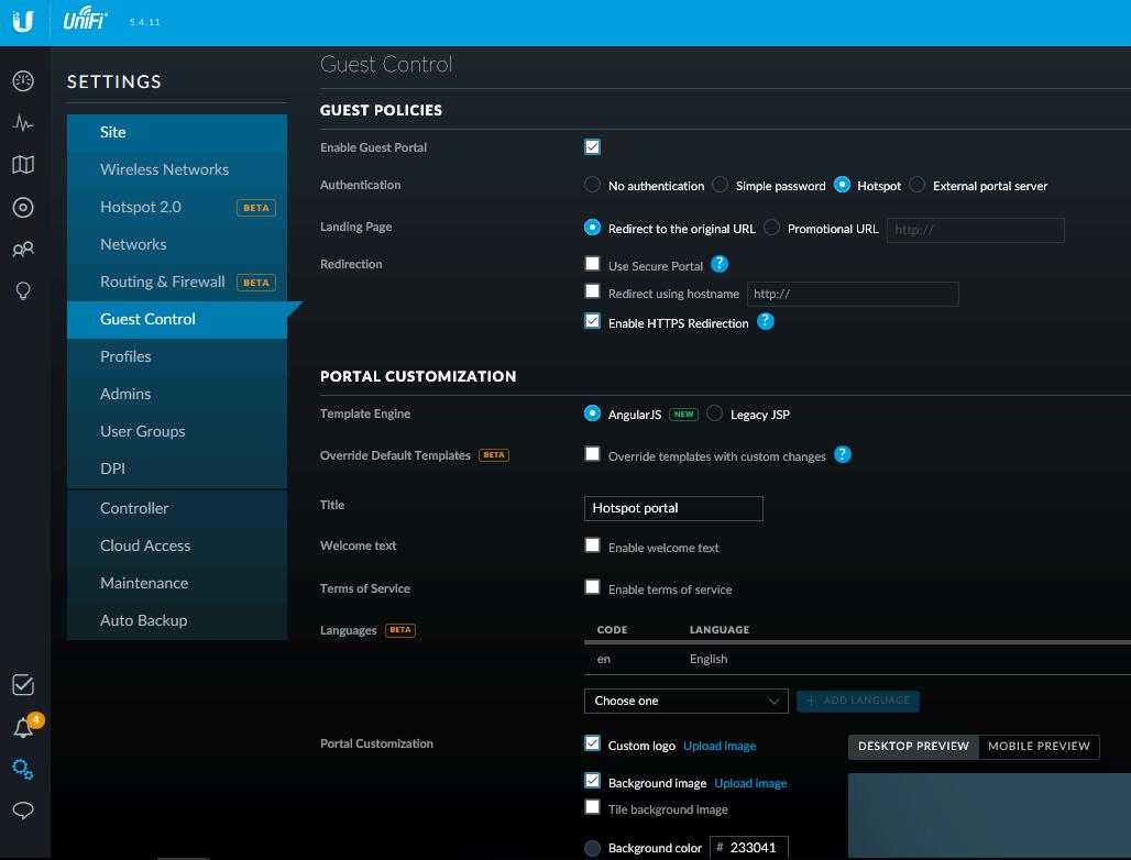 Корпоративный wifi на UBNT с порталом и доменной аутентификацией