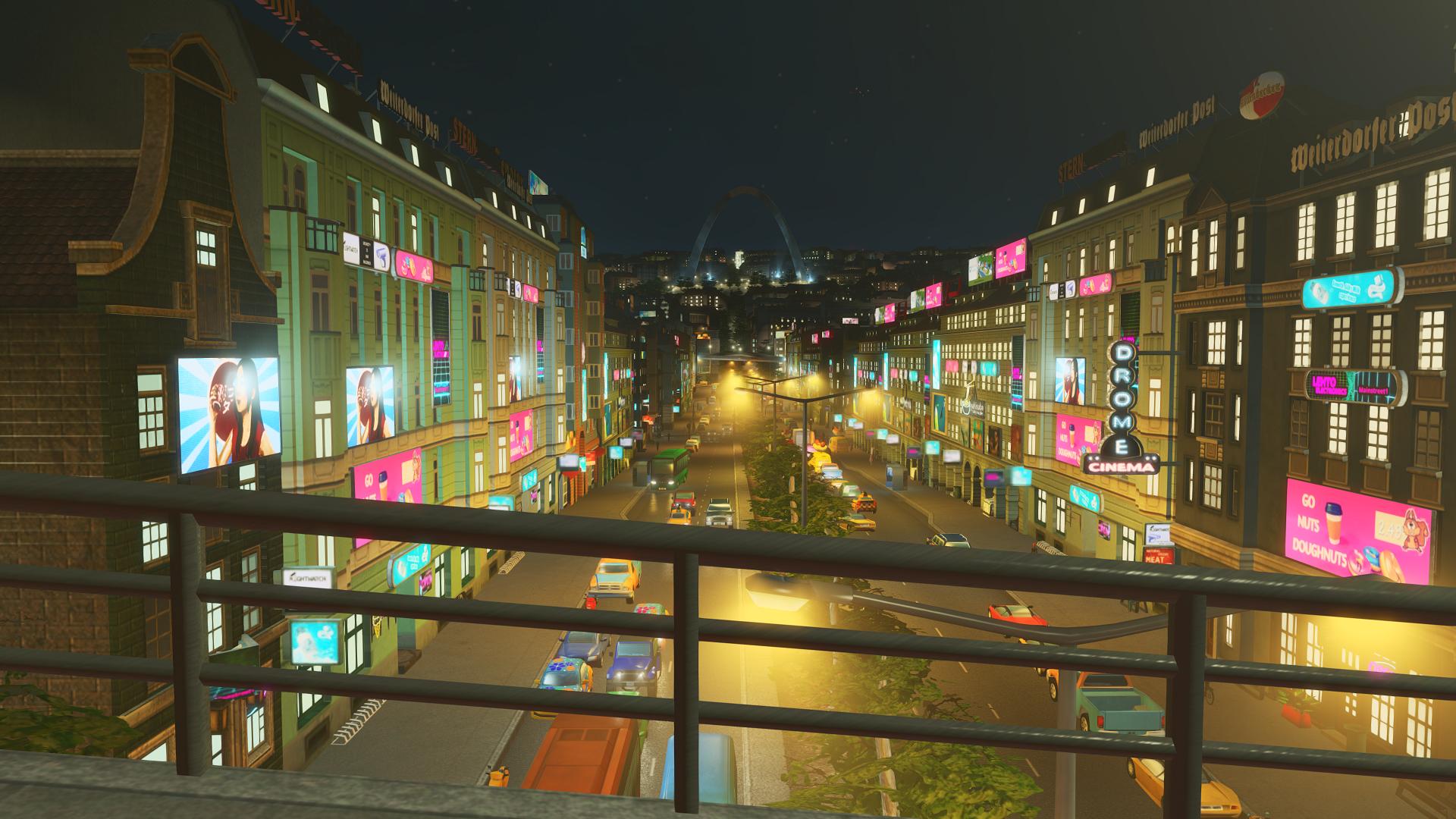 Обои перекресток, ночь, улица, дома, люди, Китайский квартал. Города foto 2