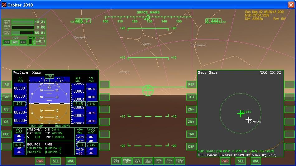 МФД посадки (Shift — L).
