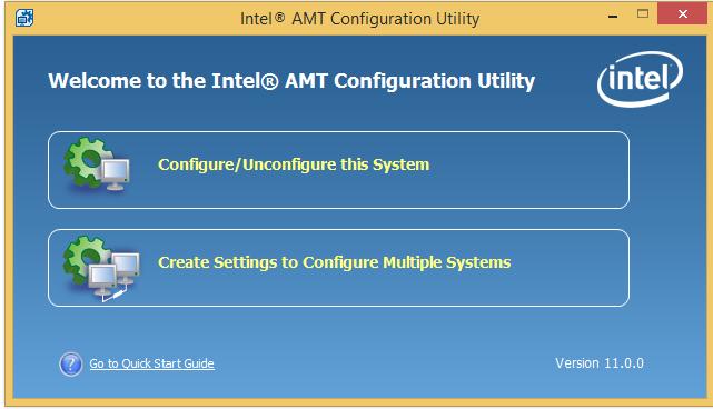 Интеграция настройки Intel AMT в консоль управления