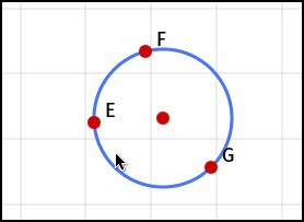 Three-point circle