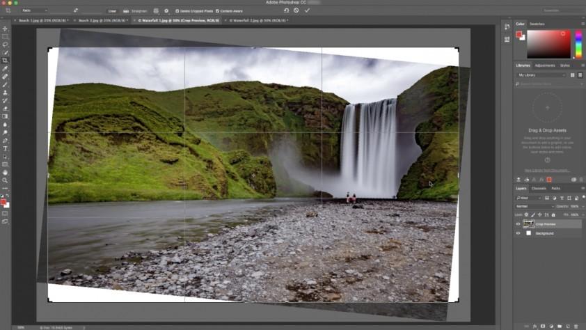 Photoshop CC научился красиво исправлять заваленный горизонт