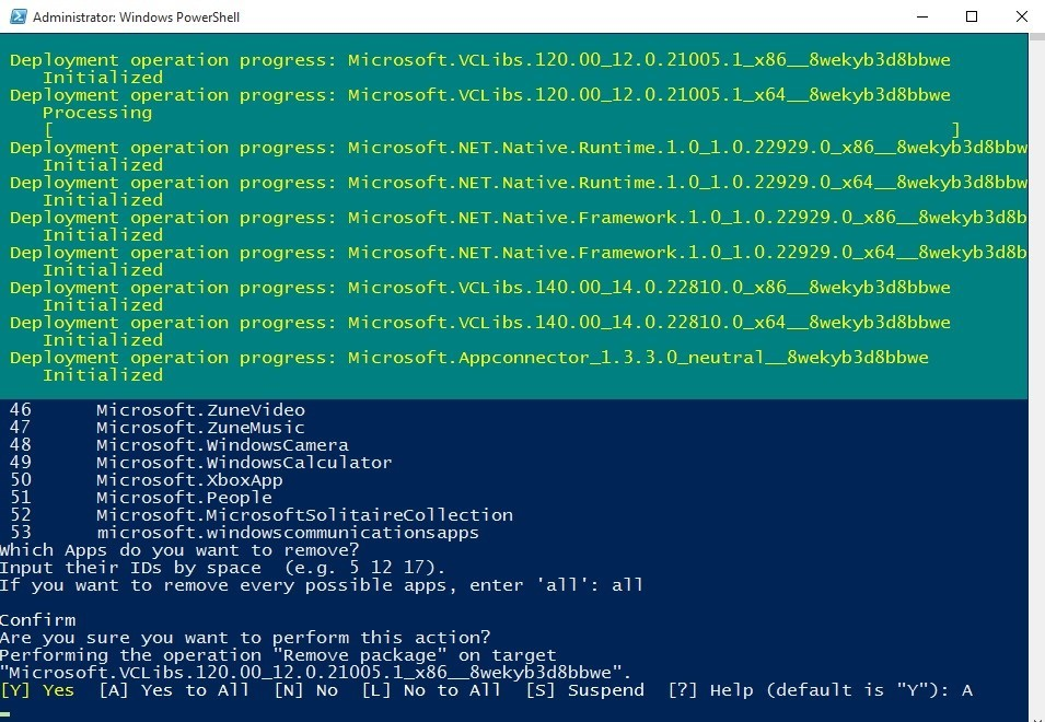 Windows PowerShell delete all