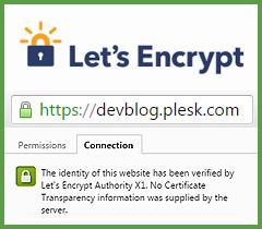 Let's Encrypt в Plesk-панели