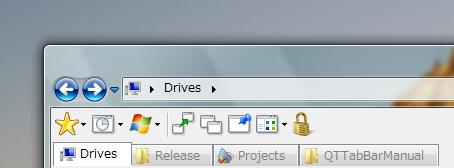 Скриншот программы QT TabBar