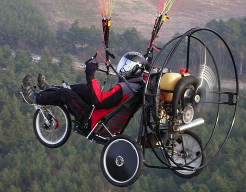 Flyke, das fliegende Fahrrad