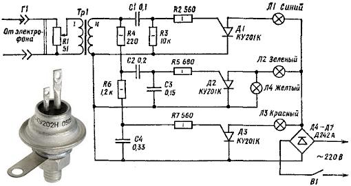 Схема тиристоры ку202