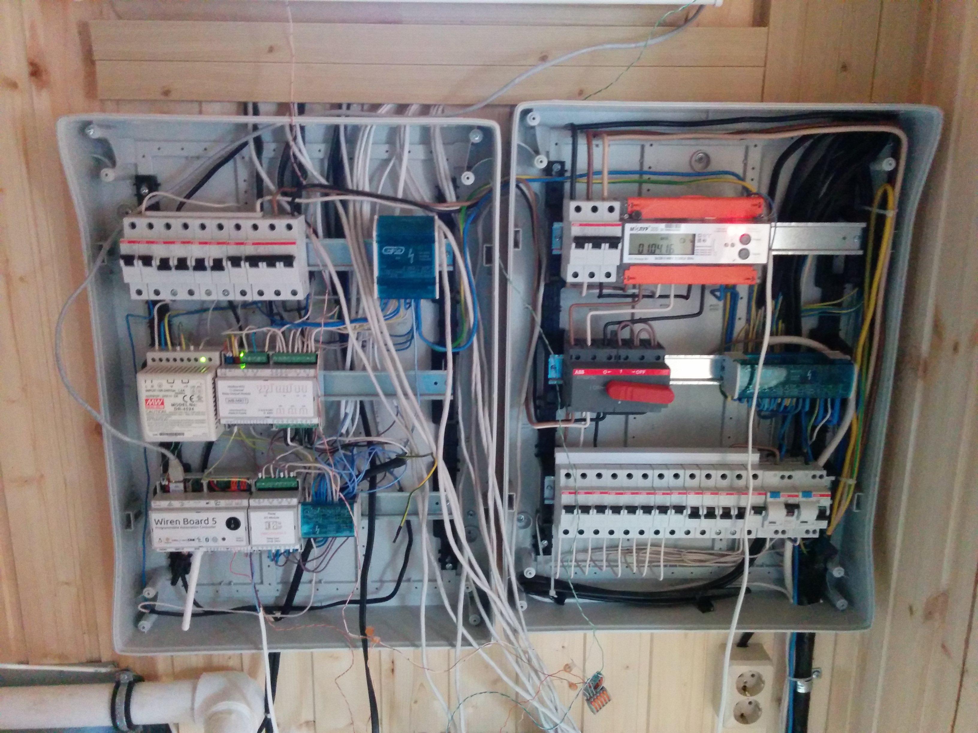 схема подключения выключателя света в еропроводке