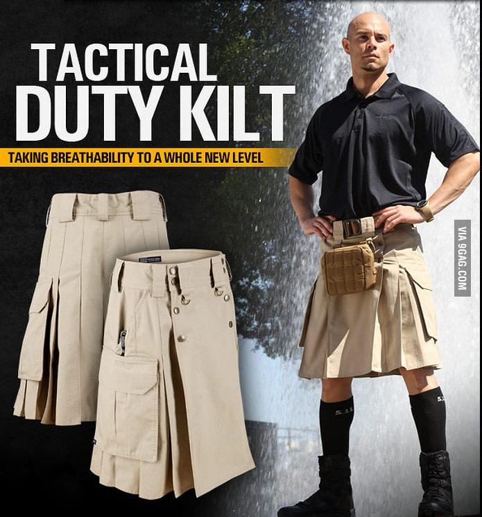 Воины носят юбки под которыми нет трусов