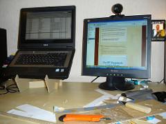 Cardboard Laptop Stand, v1. — too big