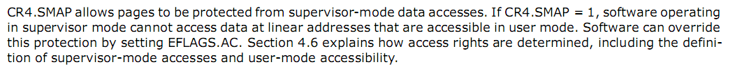 SMAP, Supervisor Mode Access Prevention
