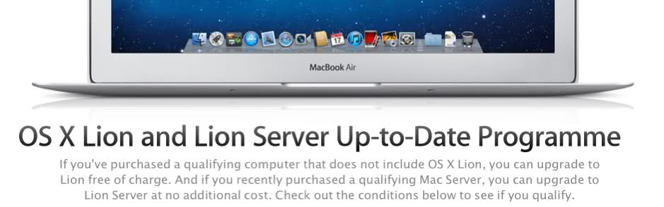 OS X Lion Up-to-Date Programme