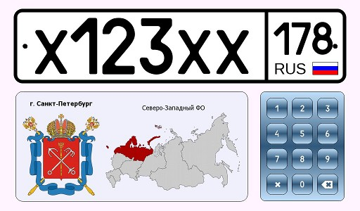 Identification of a region by its license plate number