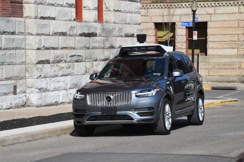 Робомобиль Uber попал в ДТП