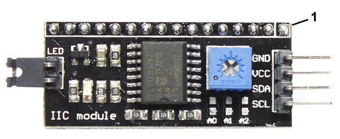 Module for managing displays on the I2C bus
