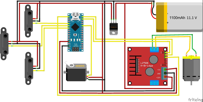 модель автомобиля arduino схема