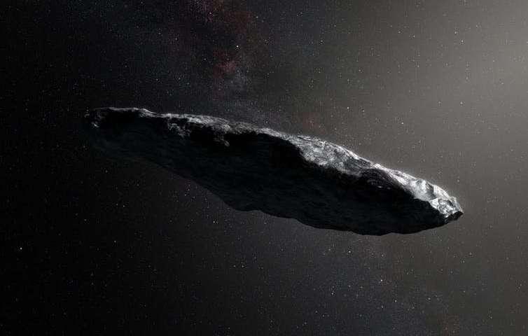 «Корабль пришельцев» Оумуамуа хаотично вращается
