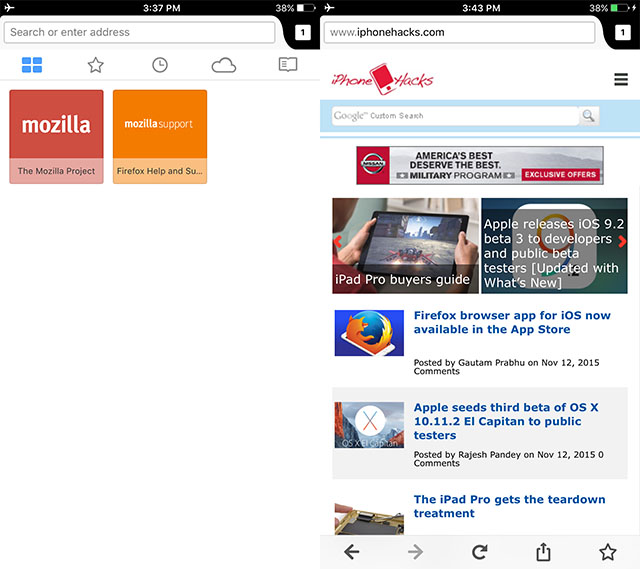 Firefox and iOS — unless it is compatible? It turned out that yes