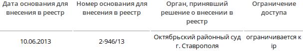 Скриншот сайта eais.rkn.gov.ru