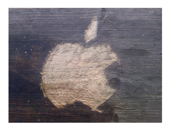 Scratched Apple