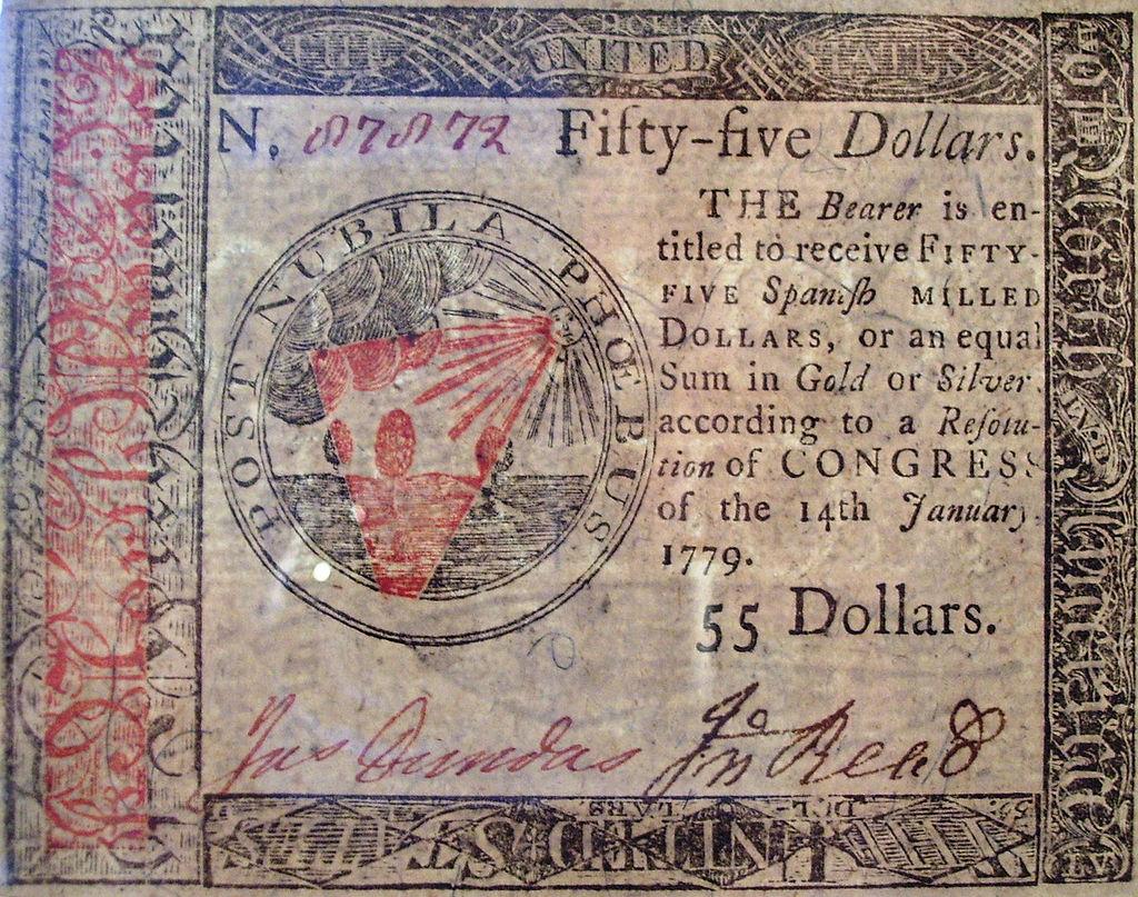 В какой стране впервые появились бумажные деньги 2 долларовые купюры