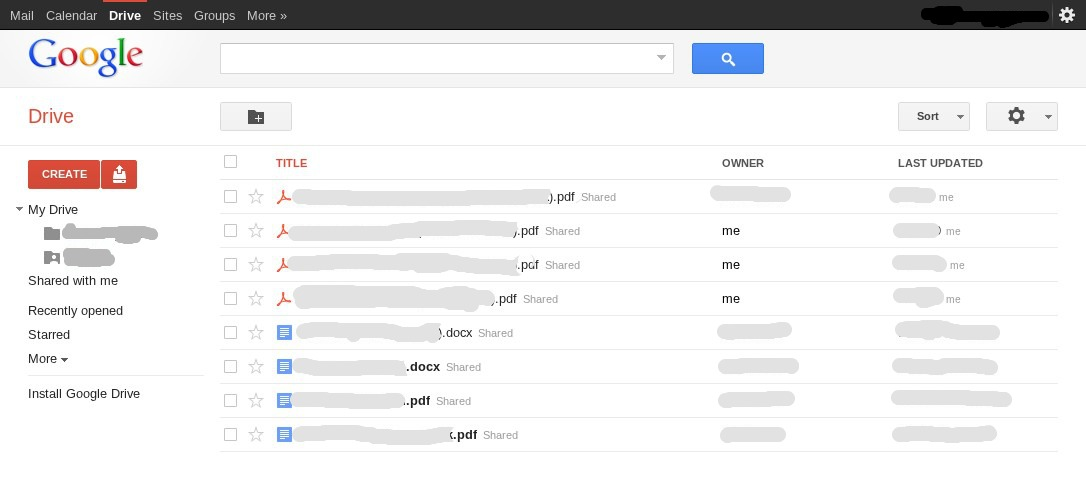 google drive secret screenshot