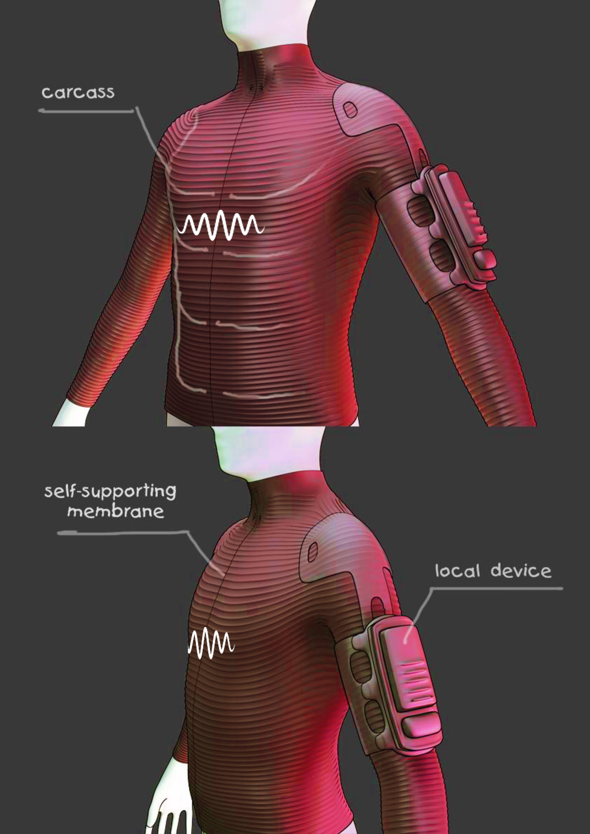 Костюм виртуальной реальности, который позволяет почувствовать теплый бриз или пулю