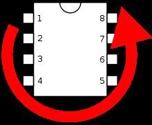Нумерация выводов DIP-микросхем