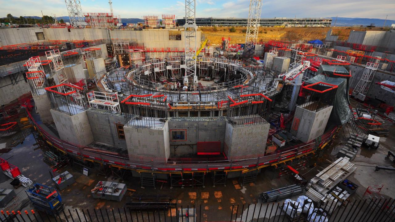 Строительство ИТЭР опережает график. Первая плазма запланирована на 2025 год