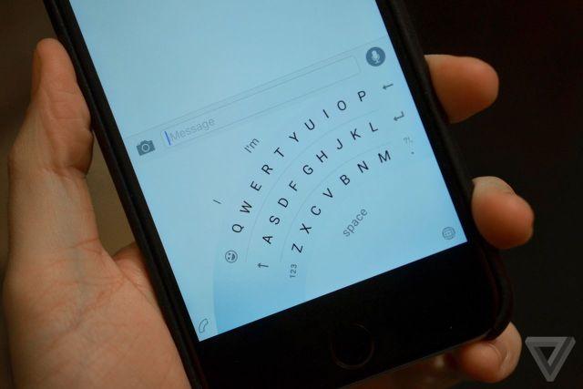 Microsoft готовит изогнутую клавиатуру для iPhone